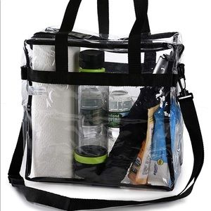 """Handbags - Clear Tote Bag Concert Approved 12"""" x 12"""" x 6"""""""